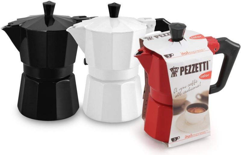 Pezzetti Italexpress, Piros Kotyogós kávéfőző, 3 személyes