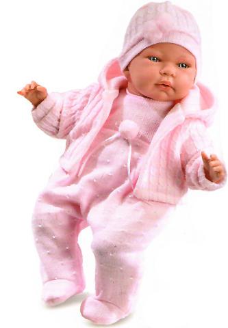 Vásárlás  Llorens Újszülött síró baba rózsaszín ruhában - 40 cm ... 9d0a5cc5c6