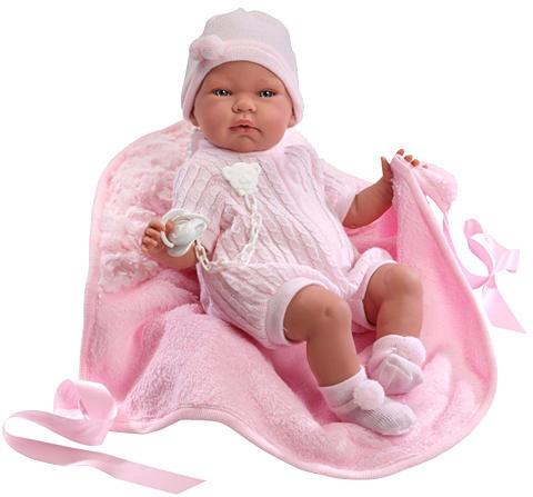 Vásárlás  Llorens Újszülött baba rózsaszín ruhában takaróval - 40 cm ... 3e55510419