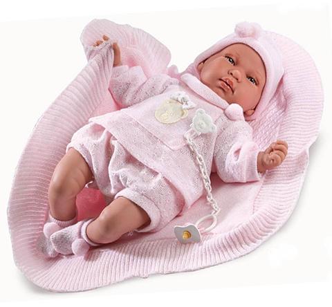 Vásárlás  Llorens Újszülött síró baba rózsaszín macis ruhában - 44 ... 95cb04c04d