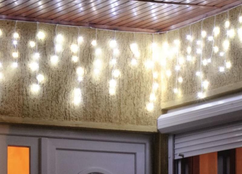 Home by Somogyi KAF 100L 3M LED es fényfüggöny, 3m, 8