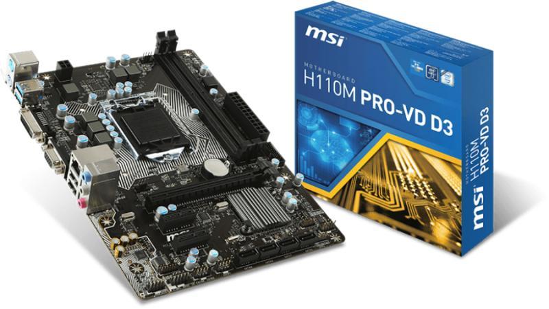 MSI H110M PRO-VD D3 Driver Download (2019)