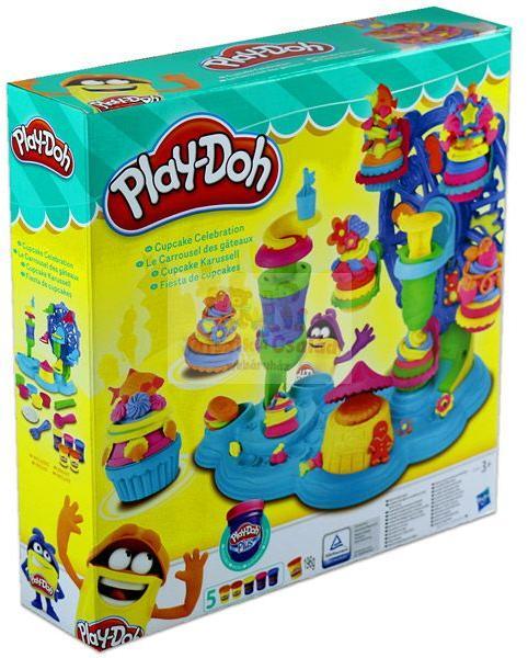 Hasbro Play-Doh: Cupcake Celebration - Sütemények ünnepe gyurmakészlet ( B1855)
