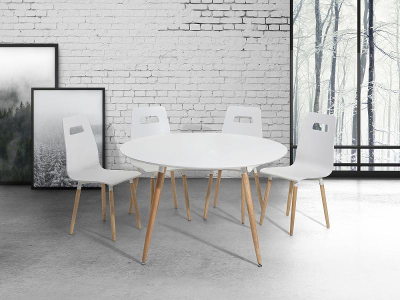 Vásárlás: Beliani Bovio kerek étkezőasztal 120cm Étkezőasztal árak ...