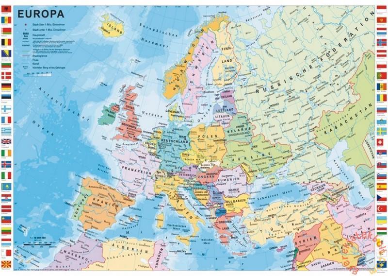 Europa Orszagai Terkep Marlpoint