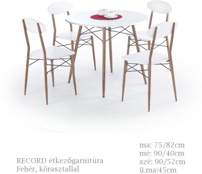 Vásárlás: HALMAR Record étkezőgarnitúra kerek asztallal - 4 ...