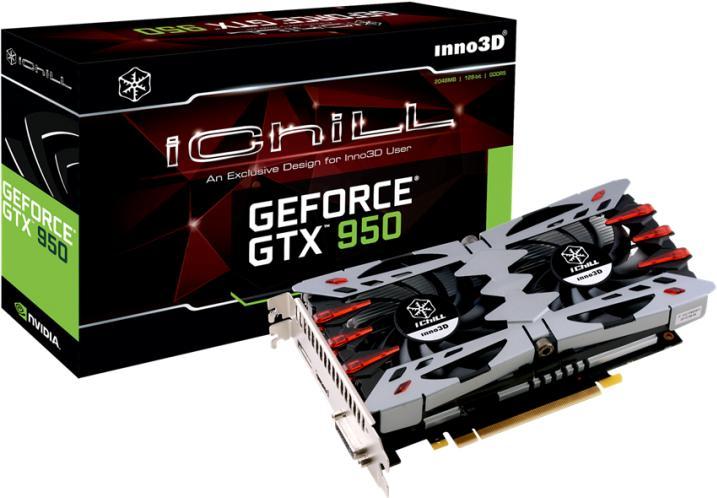 Inno3D C950-1SDV-E5CMX NVIDIA GeForce GTX 950 2GB scheda video