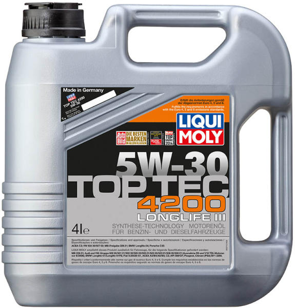 liqui moly top tec 4200 5w 30 longlife iii 4l ulei. Black Bedroom Furniture Sets. Home Design Ideas