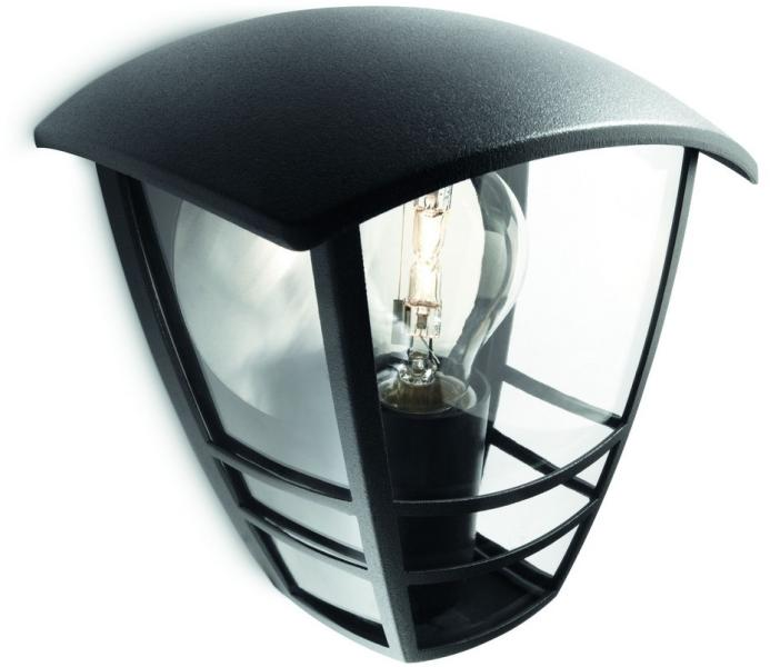Favoriete Vásárlás: Philips Creek kültéri fali lámpa, fekete 15387/30/16 WA22