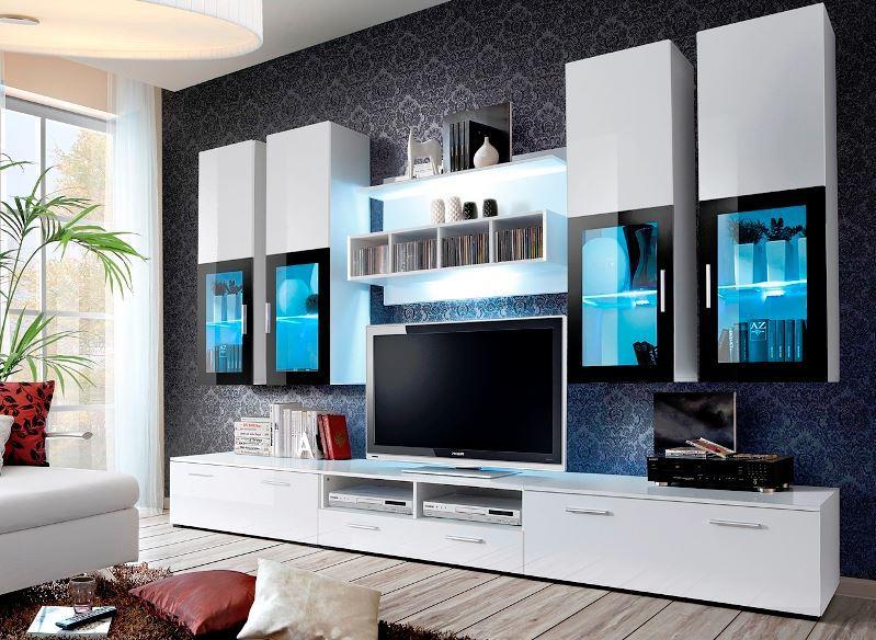 Vásárlás: Lyra WS szekrénysor, fehér/magasfényű fehér, led ...