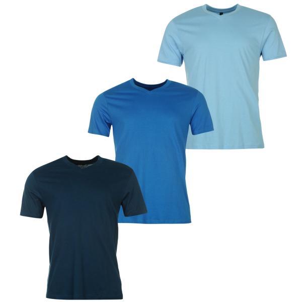 Vásárlás  Donnay Three Pack férfi V nyakú póló - kék - sötétkék ... 3987bd85d9