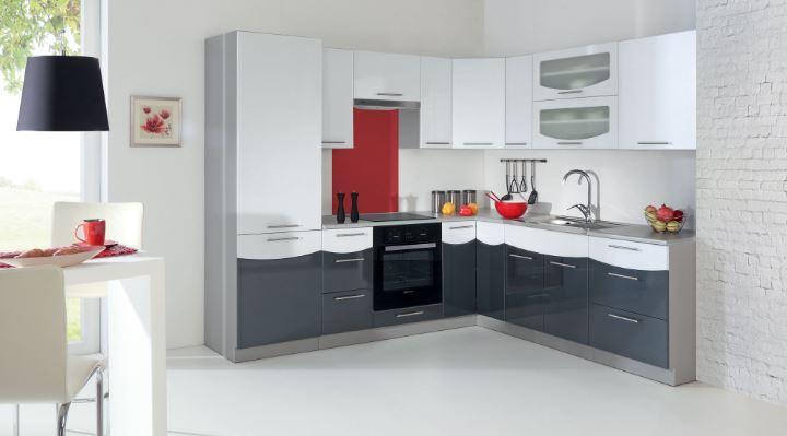 Vásárlás: Smile 250x230 konyha összeállítás, fehér/fekete, MDF ...