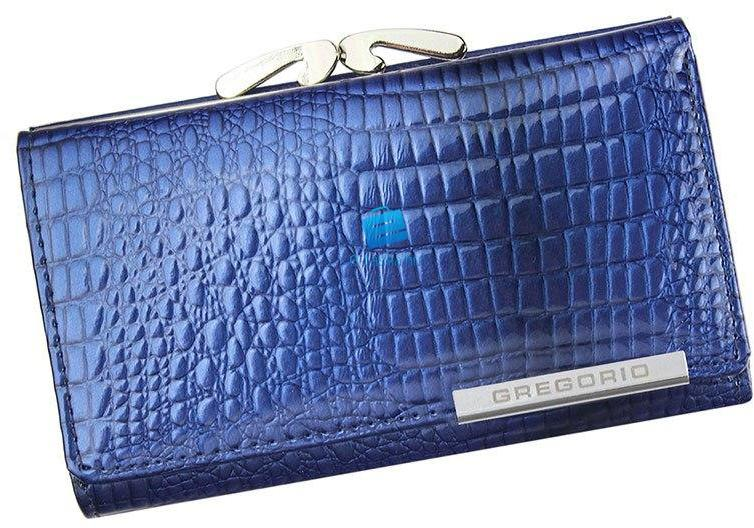 Gregorio Valódi bőr női pénztárca díszdobozban (GF108 2 blue) 091fe6a7f9