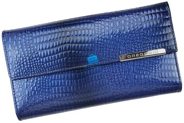 Gregorio Valódi bőr női pénztárca díszdobozban (GF109 2 blue) f3234562fd