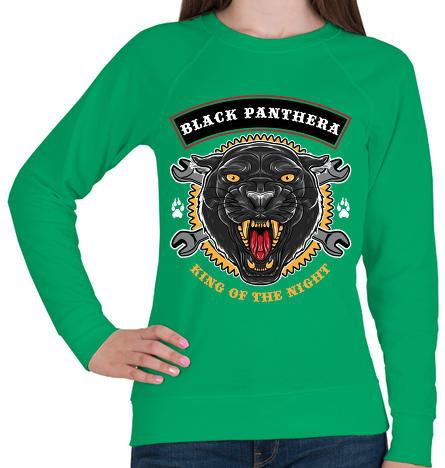 e046e63aaa Vásárlás: printfashion Fekete párduc - Női pulóver - Zöld Női ...