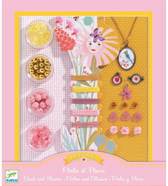 b4e6cf75f78d Vásárlás: DJECO Ékszerkészítő - Gyöngyök és virágok (DJ09801 ...