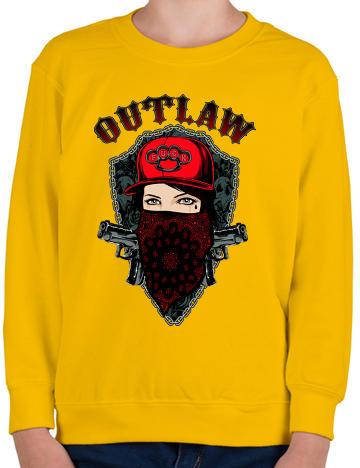 bf7d0366da Vásárlás: printfashion Törvényen kívüli - Gyerek pulóver - Sárga ...