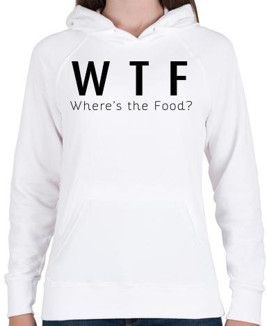 6e7c7aa7f9 Vásárlás: printfashion WTF? - Női kapucnis pulóver - Fehér Női ...