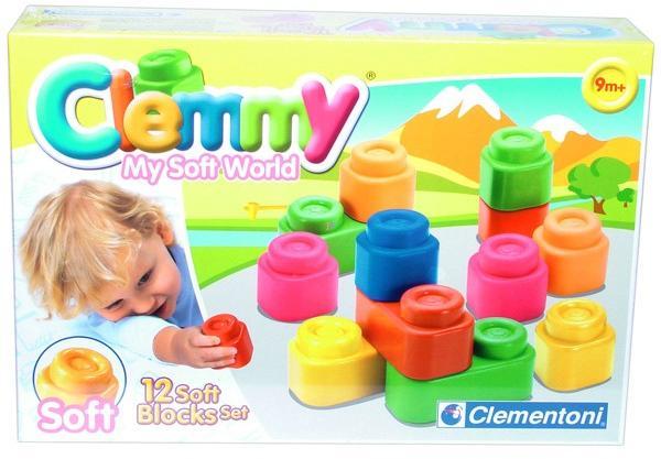 Clemmy My Soft World 12 db os építőkocka (14706)
