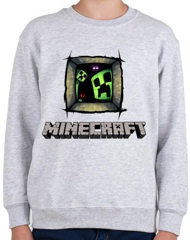 Vásárlás  printfashion Minecraft - Gyerek pulóver - Sport szürke ... 7f1efa5e1c
