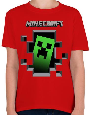 11a838038f Vásárlás: printfashion Minecraft - Gyerek póló - Piros Gyerek póló ...