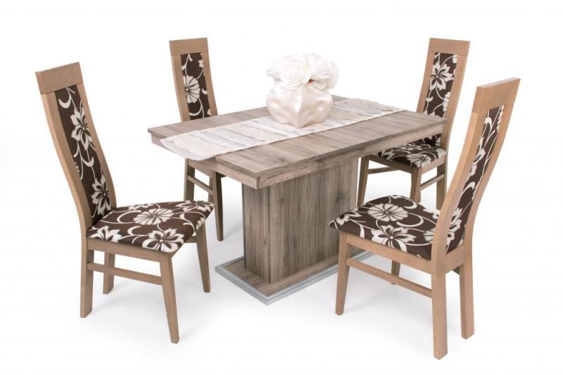 Dante étkező garnitúra Kis Flóra asztallal 4 személyes