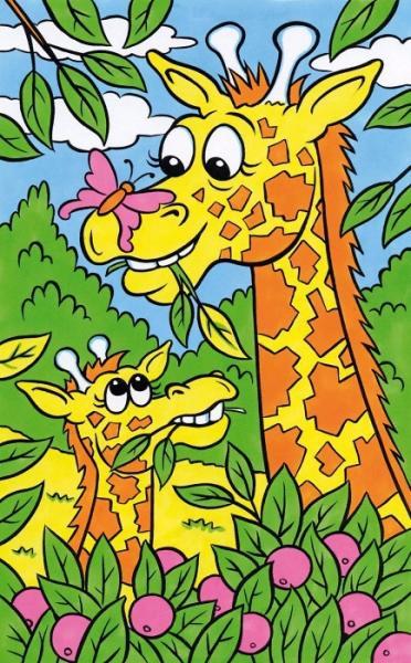 Desen Pe Numere Girafa