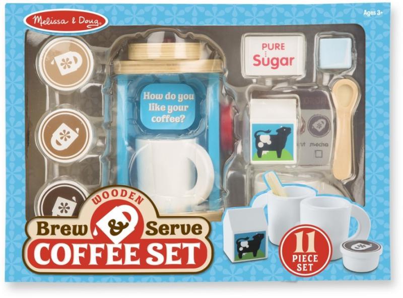 aade1fad4d Vásárlás: Melissa & Doug Fa kávéfőző szett (MD9842) Gyermek konyha ...