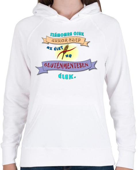 830c58b514 Vásárlás: printfashion Glutenfree3 - Női kapucnis pulóver - Fehér ...