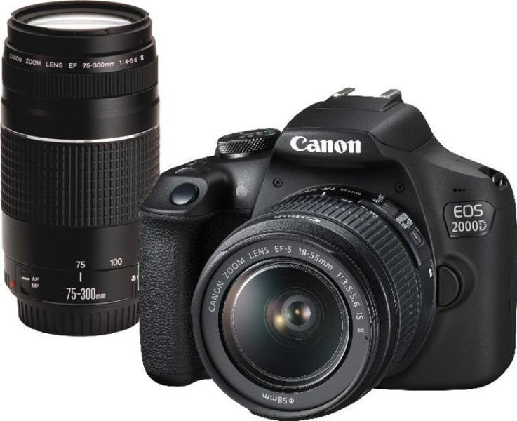 63e2f9952e Canon EOS 2000D + 18-55mm IS + 75-300mm III Digitális fényképezőgép