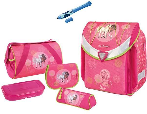 9062e3f5f175 Herlitz Iskolatáska Herlitz Flexi Lovak szett 5 részes + töltő toll és  szállítás ingyenes