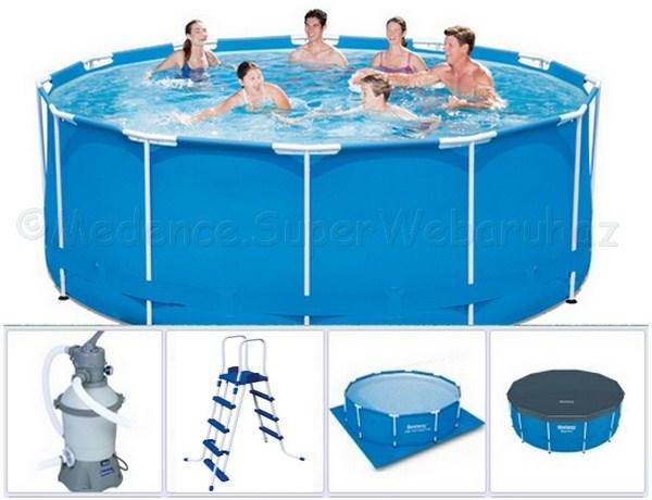 Vásárlás  Bestway 14471+ Fémvázas medence készlet homokszűrővel ... 9a2a291e1a