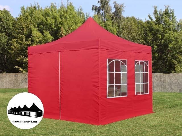 523b1d1d5955 Vásárlás: 3x3m összecsukható pavilon ablakos Piros (Normál kivitelű ...