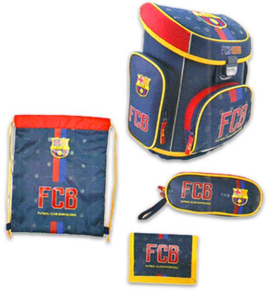 6bbad0063e2c Eurocom FC Barcelona - merev falú, 4 részes anatómiai iskolatáska szett  (53546)