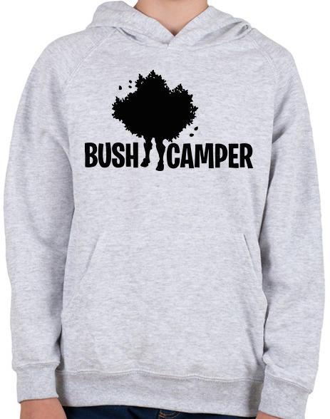 printfashion Fortnite Bush Camper - Gyerek kapucnis pulóver - Sport szürke 534f2532c8