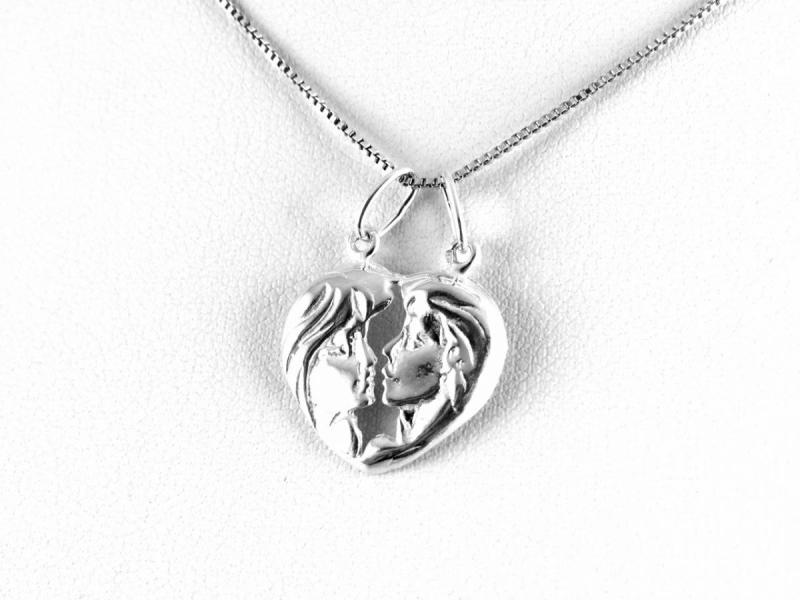 4831f3f88 Két arcos kettépattintható ezüst szív medál