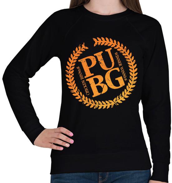4436c02e73 Vásárlás: printfashion PUBG LOGO - Női pulóver - Fekete Női pulóver ...
