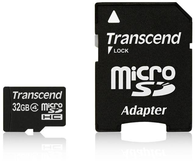 Transcend MicroSDHC 32GB Class 4 TS32GUSDHC4