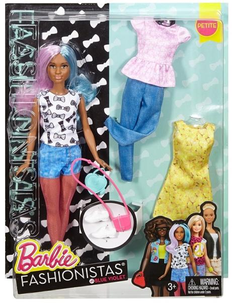 Vásárlás  Mattel Barbie- Fashionistas - Kék-lila hajú baba Barbie ... a89a99af6d