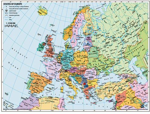 Ravensburger Harta Politica A Europei 500 Puzzle Preturi