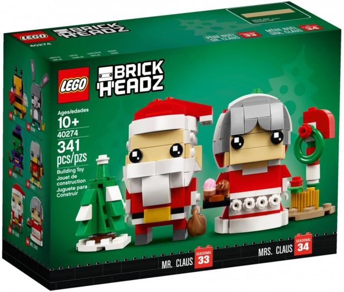 c9568ba2a5 Vásárlás: LEGO BrickHeadz - Mr. Claus és Mrs. Claus (40274) LEGO ...