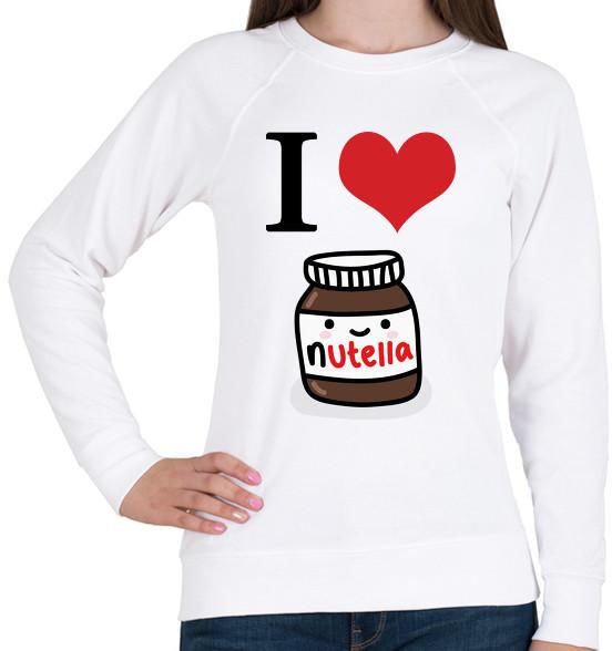 2e7b292952 Vásárlás: printfashion I love nutella - Női pulóver - Fehér Női ...