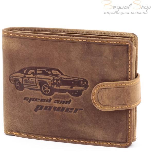 c164ca29e102 Vásárlás: GreenDeed autó mintás barna férfi bőr pénztárca (A1A1021/T ...