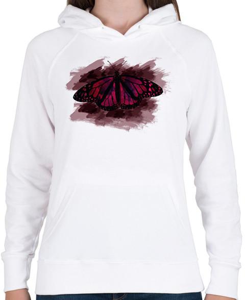 79b3d7ab99 Vásárlás: printfashion pillangó1 - Női kapucnis pulóver - Fehér Női ...