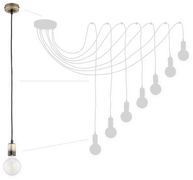 Mennyezeti lámpa vezeték