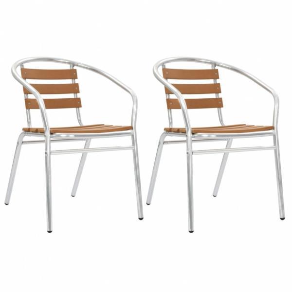 Alumínium és WPC rakásolható szék, 2db (44793)