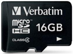 Verbatim MicroSDHC 16GB class 4 44007