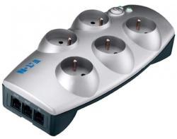 Eaton Protection Box 5 Plug + TEL Switch (66713)