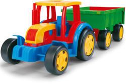 Wader Óriás Traktor utánfutóval