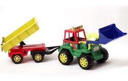 Formex Pótkocsis Traktor 57 cm-es